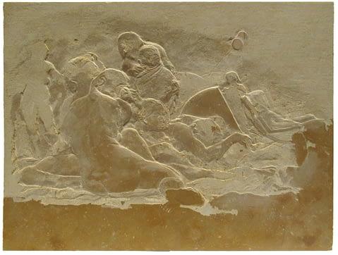 Peter Niedertscheider, Sommertag (Untersberger Marmor), 30 x 40 cm, 2019